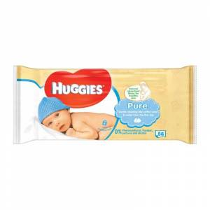 Huggies Baby Wipes Pure 56 st Doekjes
