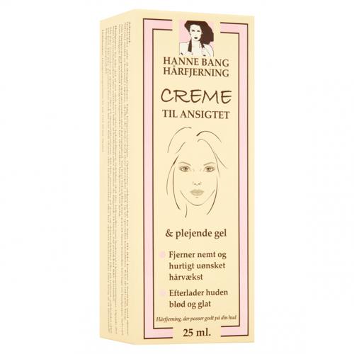 Hanne Bang Haarverwijderingscrème voor Gezicht 25 ml Haarverwijderaar