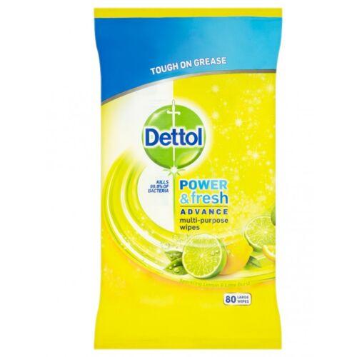 Dettol Power & Fresh Reinigingsdoekjes Citrus 80 st Reinigingsdoekjes
