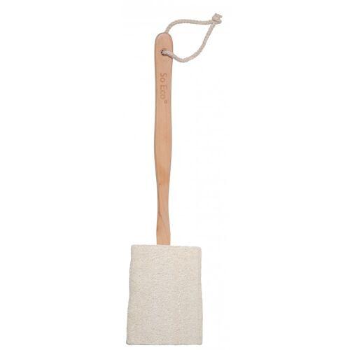 So Eco Flat Loofah With Wooden Handle 1 st Lichaamsspons