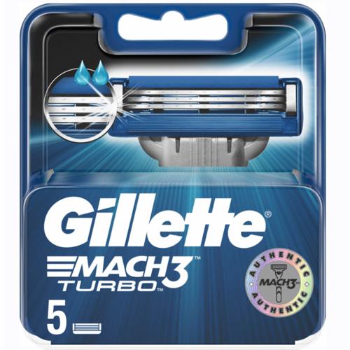 Gillette Mach3 Turbo Scheermesjes 5 st Scheermesjes