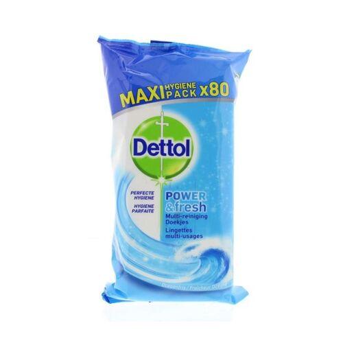 Dettol Power & Fresh Ocean Multi-Reinigingsdoekjes Maxi Pack 80 st Reinigingsdoekjes