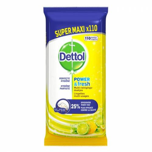 Dettol Multi Reinigingsdoekjes Power & Fresh 110 st Reinigingsdoekjes