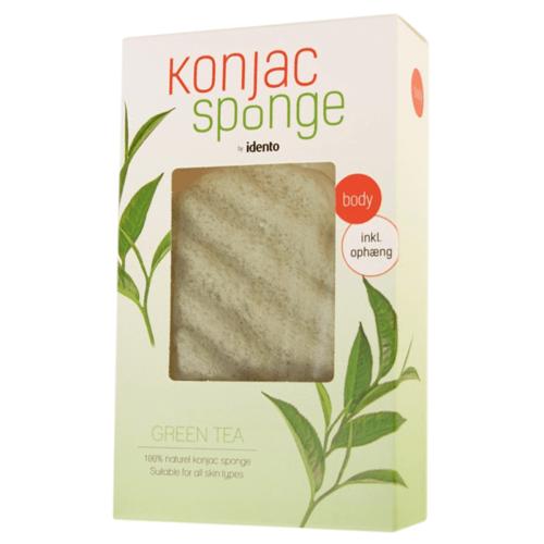Konjac Sponge Body Wave Green Tea 1 st Lichaamsspons