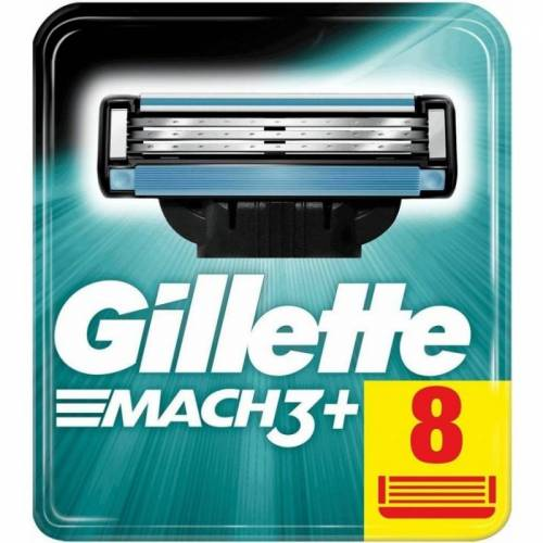 Gillette Mach3+ Scheermesjes 8 st Scheermesjes