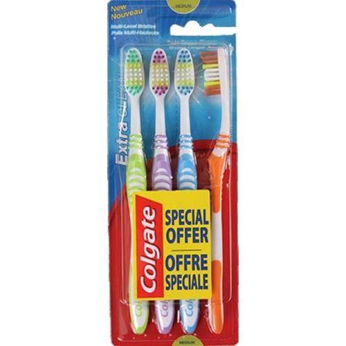 Colgate Extra Clean Tandenborstels Medium 4 st Tandenborstel