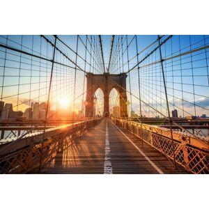 Boschbedding Brooklyn bridge op glas