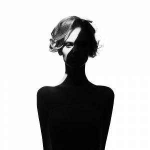Boschbedding Dame silhouet zwart wit