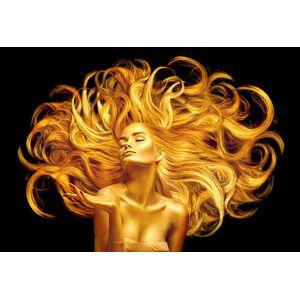 Boschbedding Dame zwart goud