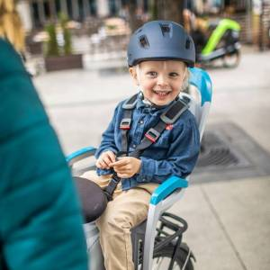 Hamax fietszitje achter Amaze polypropyleen grijs/petrolblauw