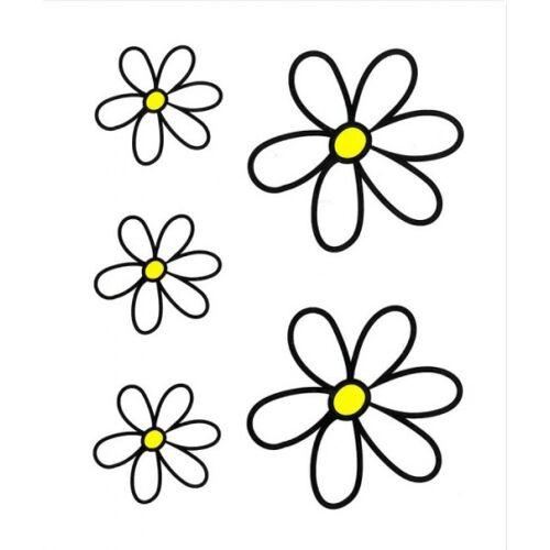 TOM fietsstickers Kit Flowers wit