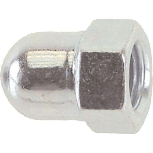 TOM dopmoer achteras 3/8 x 24 staal zilver 12 stuks