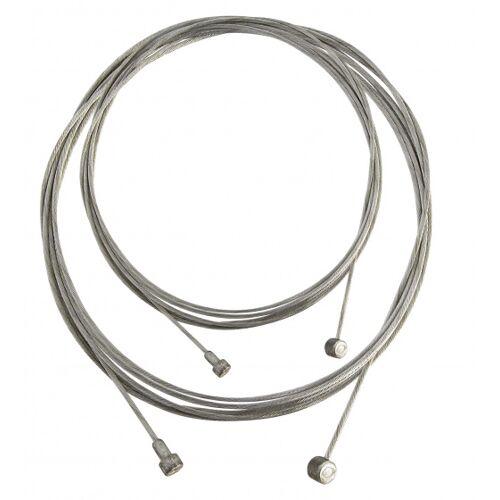 Dresco remkabel voor/achter staal zilver