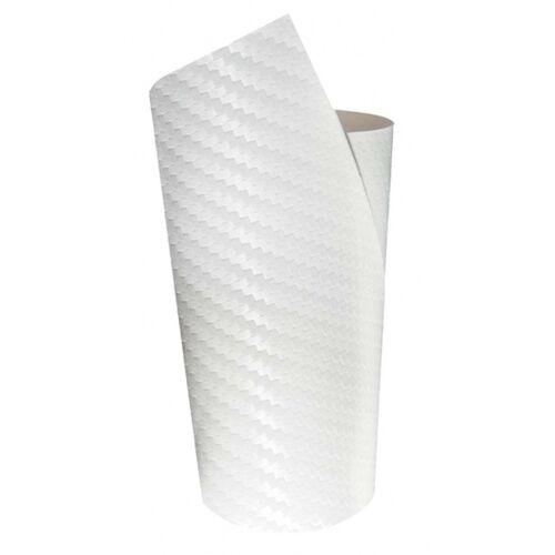 Foliatec decoratiefolie Ultra Carbon 50 x 50 cm wit