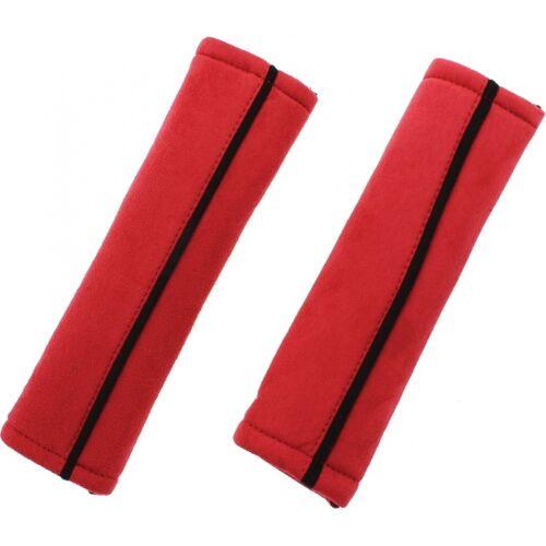 Race Sport gordelhoezen 24 x 6,5 cm vilt rood 2 stuks