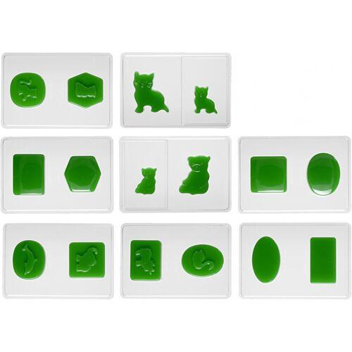 Creotime gietvormen siliconen 5 7 cm transparant 16 stuks - Transparant