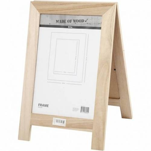 Creotime houten sandwichbord 40 x 26 cm blank per stuk - Blank