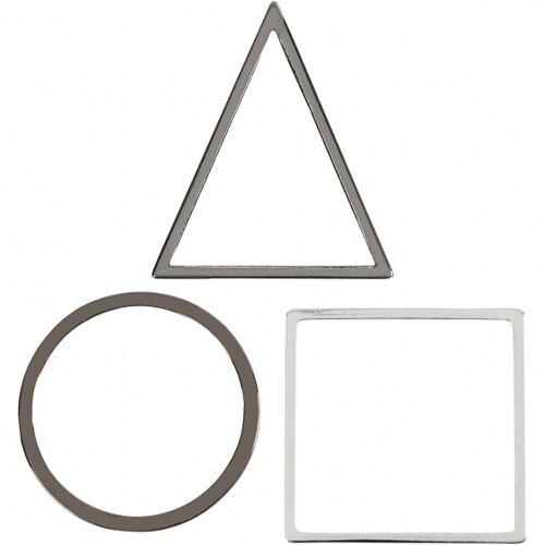 Creotime sieradenhangers 30 x 30 mm 30 stuks zilver - Zilver
