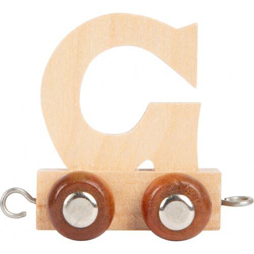Small Foot treinkarretje letter G hout beige 5 x 3,5 x 6 cm - Beige