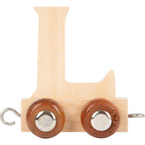 Small Foot treinkarretje letter L hout beige 5 x 3,5 x 6 cm - Beige