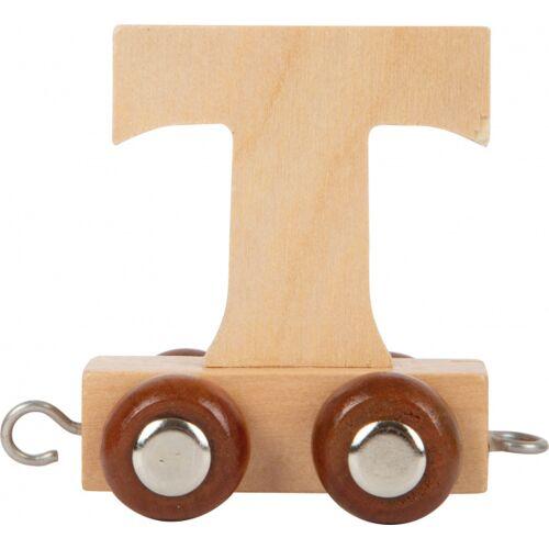 Small Foot treinkarretje letter T hout beige 5 x 3,5 x 6 cm - Beige