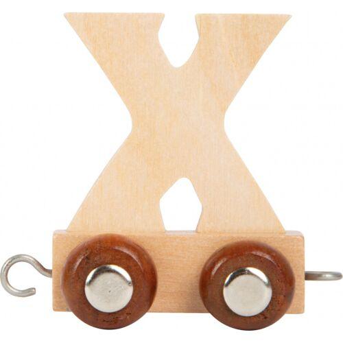 Small Foot treinkarretje letter X hout beige 5 x 3,5 x 6 cm - Beige
