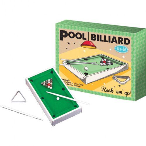 Invento Desktop Pool Biljart set 18 x 22 cm groen - Groen