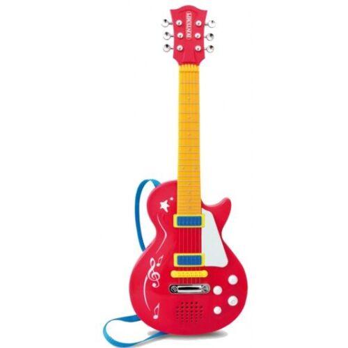 Bontempi Elektrische Rock gitaar rood - Rood,Geel