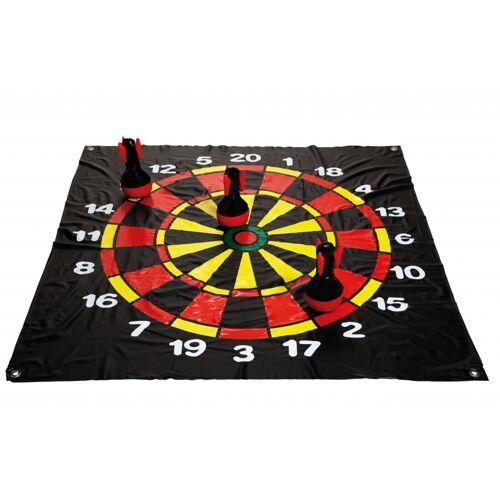 BS Toys dartvloerkleed Darts 120 cm zwart - Zwart,Rood,Geel