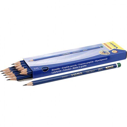 Lyra potloden hardheid H 12 stuks - Grijs