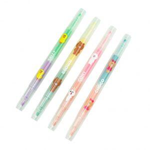 Blueprint Collections Ltd highlighters Line Friends 4 delig - Roze,Geel,Blauw,Groen,Oranje,Paars