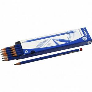 Lyra potloden hardheid B 12 stuks - Grijs