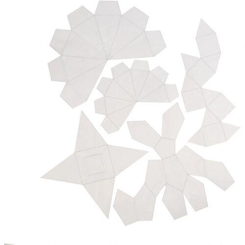 Creotime gietvormen geometrisch set 5 delig transparant - Transparant