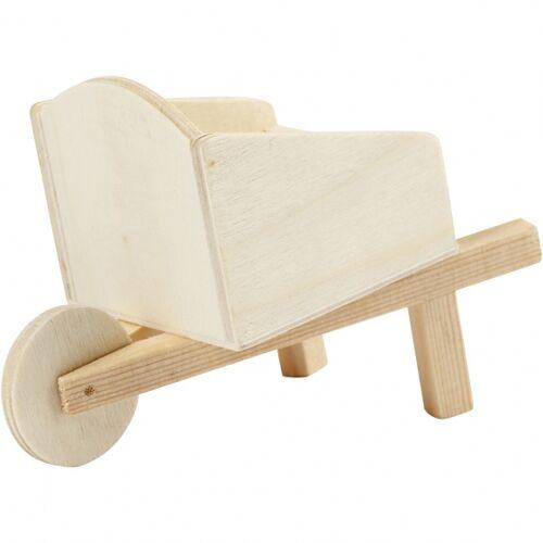 Creotime houten handkar 11 x 7 x 6 cm triplex blank per stuk - Blank
