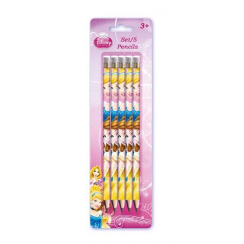 Disney potloden Princess hout roze 5 stuks - Roze