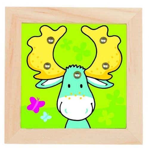 Goki behendigheidsspel hout hert - Groen