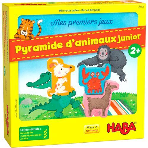 Haba bordspel Mijn eerste spellen – Dier op dier junior (FR) - Geel