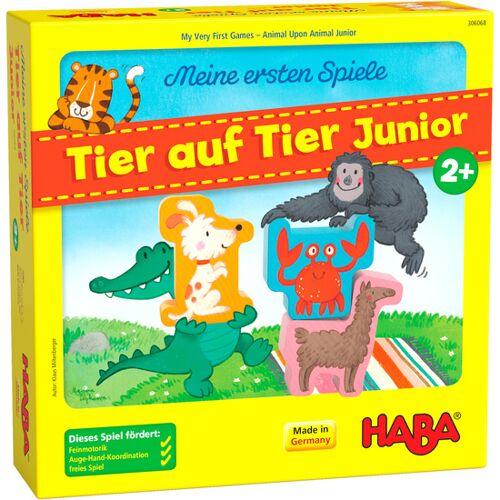 Haba bordspel Mijn eerste spellen – Dier op dier junior (de) - Geel