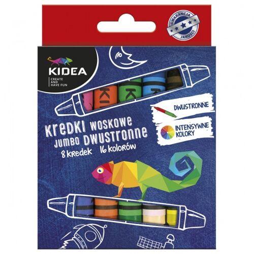 Kidea krijtjes 8 stuks 16 kleuren - Multicolor