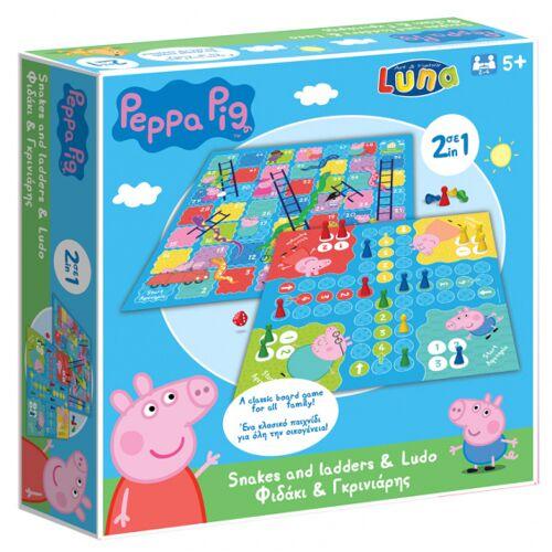 Luna bordspellen Peppa Pig 21,5 cm karton 2 stuks - Multicolor