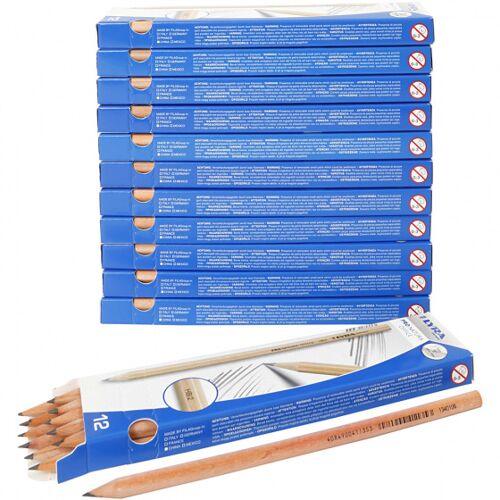 Lyra potloden hardheid HB 12 x 12 stuks - Grijs