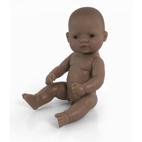 Miniland babypop Zuid Amerikaans jongen 32 cm bruin - Bruin