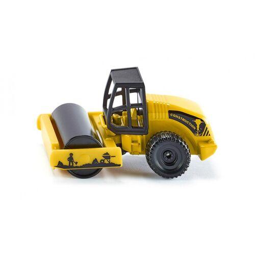 Siku asfaltwals 7 x 3,6 cm staal geel/zwart (0895) - Geel,Zwart