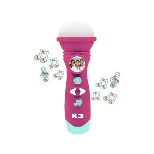 Studio 100 microfoon K3 met stemopname 30 cm roze - Roze,Groen