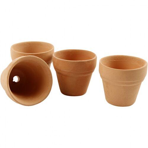 Creotime bloempot 3,1 x 3,4 cm terracotta bruin 48 stuks - Bruin