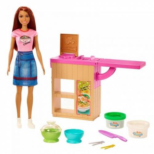 Barbie noodlebar 30 cm bruin haar 9 delig - Multicolor