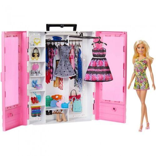 Barbie ultieme kledingkast met accessoires roze - Roze