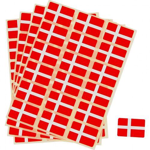 Creotime stickers Denemarken 22 x 15 mm rood/wit 72 stuks - Rood,Wit
