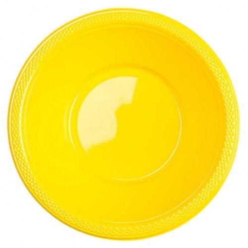 Amscan kommen geel 355 ml 10 stuks - Geel