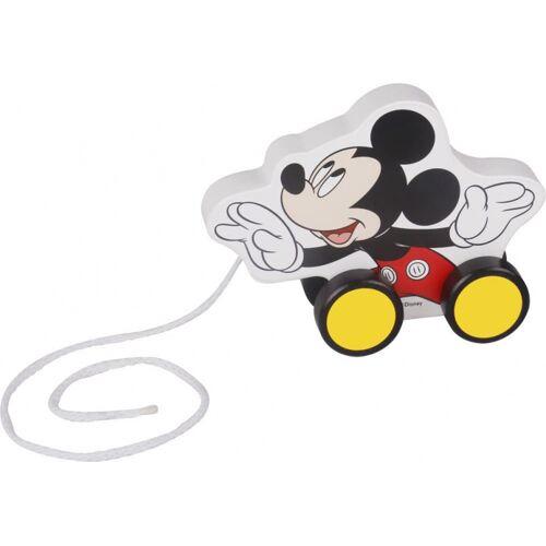 Disney trekfiguur Mickey Mouse 12,3 cm hout wit/zwart - Zwart,Wit,Geel